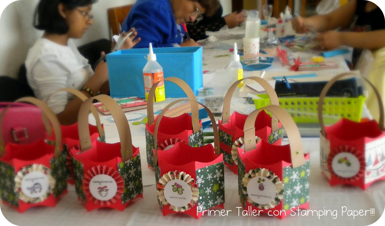 Scrap and life primer taller navide o de stamping paper y - Sorpresas para navidad ...