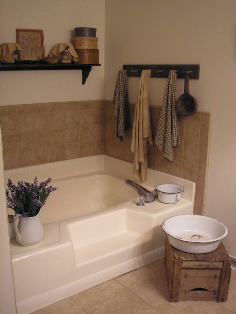 Primitive Country Bathroom Ideas