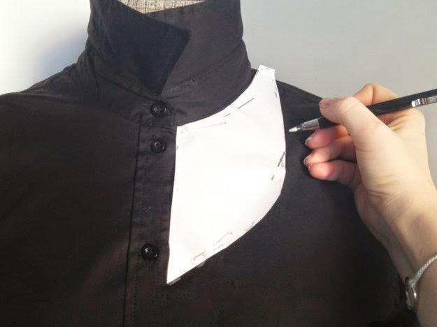 Diy side cut shirts