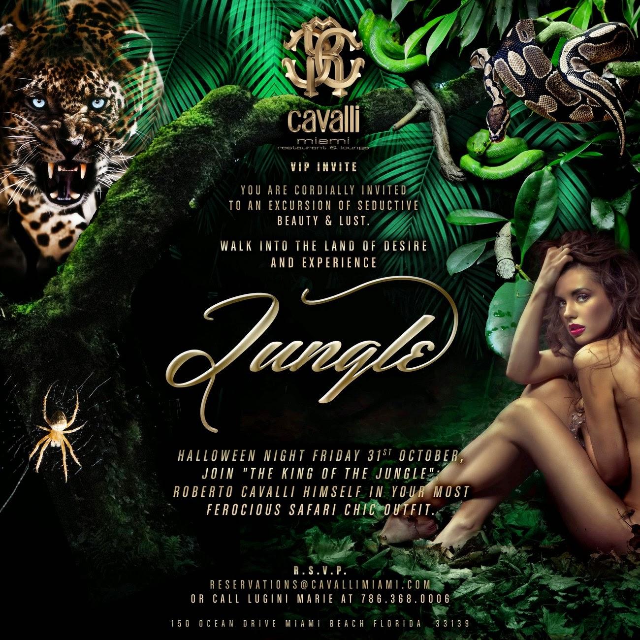 Roberto Cavalli Arriving in Miami to Host Jungle Themed Halloween Bash at Cavalli Miami