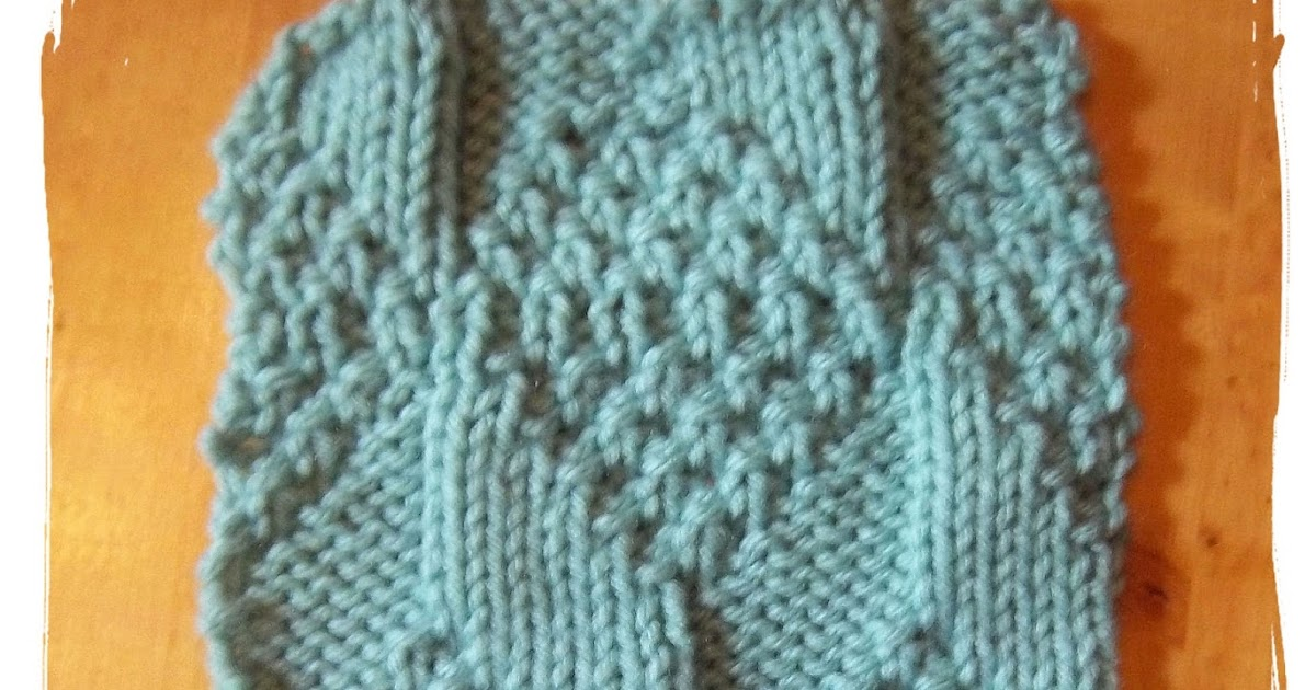 Knitting Stitches Advanced : Knitting Patterns for the beginner or the advanced knitter: Diamond Moss Knit...