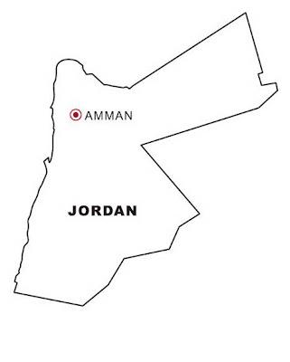 Laminas para Colorear | Coloring Pages: Mapa y Bandera de Jordania ...