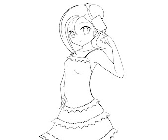 #7 Kotori Mizuki Coloring Page