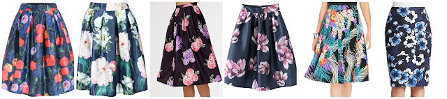 Romwe Floral Flare Skirt $8.00 (regular $25.83)  Romwe Floral Pleated Midi Skirt $14.00 (regular $27.33)  Missguided High Waisted Floral Print Full Midi Skirt $16.00 (regular $50.00)  Romwe Vintage Floral Flare Skirt $18.00 (regular $35.31)   Grace Elements Tropical Print A-Line Skirt $33.99 (regular $50.00)  Lord & Taylor Pretty Pansies Pencil Skirt $69.99 (regular $94.00)