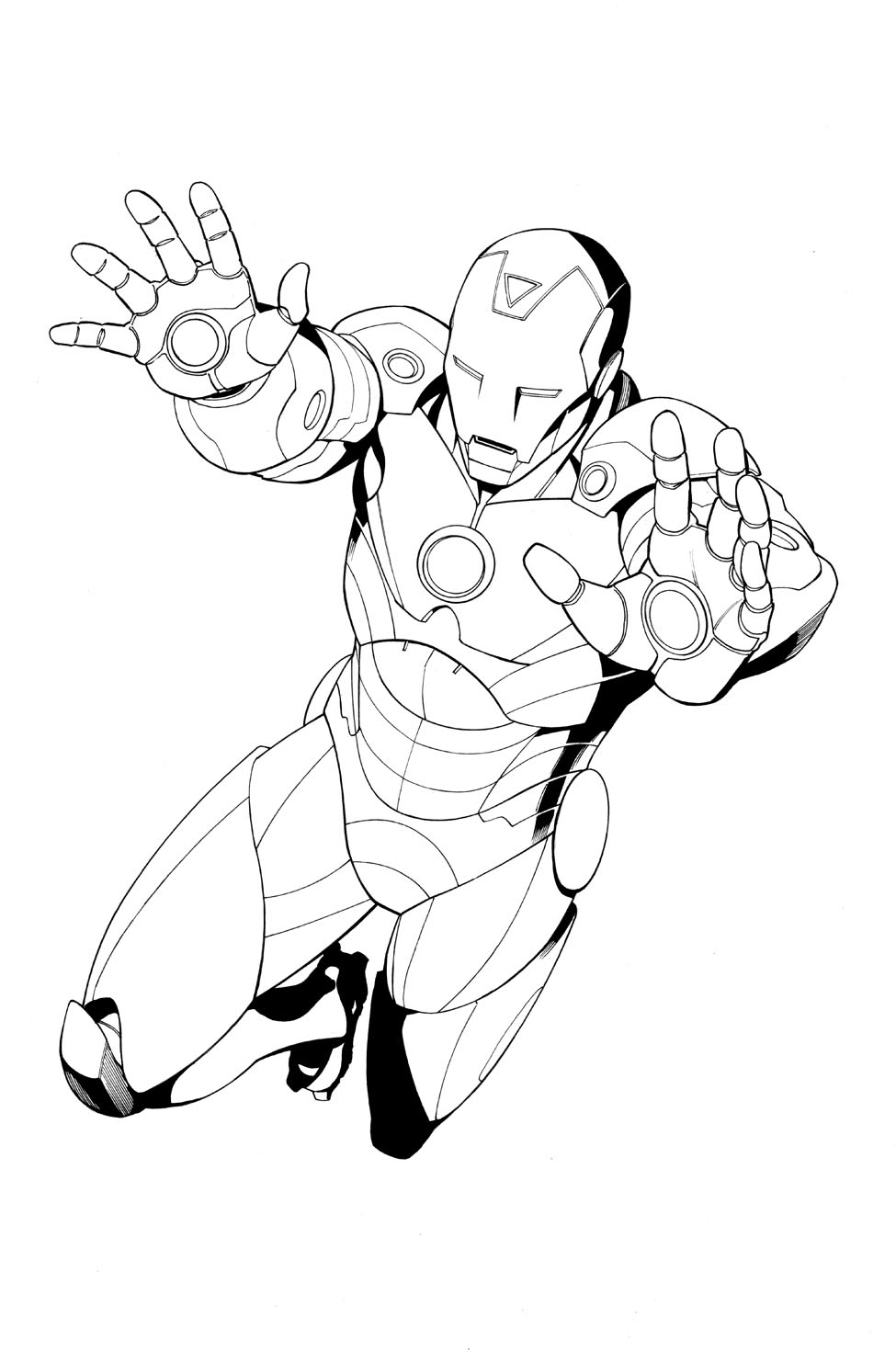 Coloring pages iron man - Iron Man Inks 975x1482