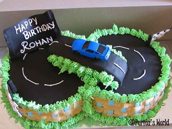 Racing Car Track Cake