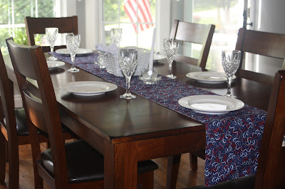fourth of july picnic table runner 96""