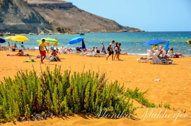 Ramla Bay Red Beach Gozo Malta by Monika Mukherjee