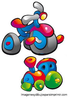 triciclo y tren para bebe juguetes de bebe para imprimir