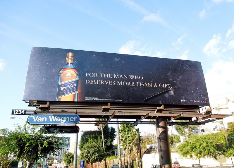 Johnnie Walker Blue Label whisky billboard