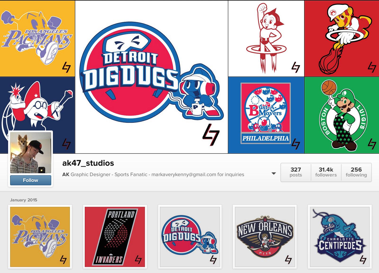 Designer Mark Kenny, AK 47 Studios, NBA Logos as Video Game Characters