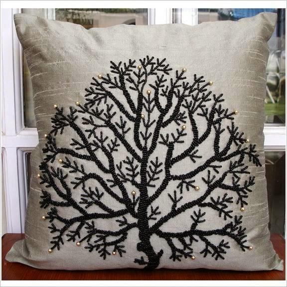 Декор подушек. Pillow, cushions decor ideas.