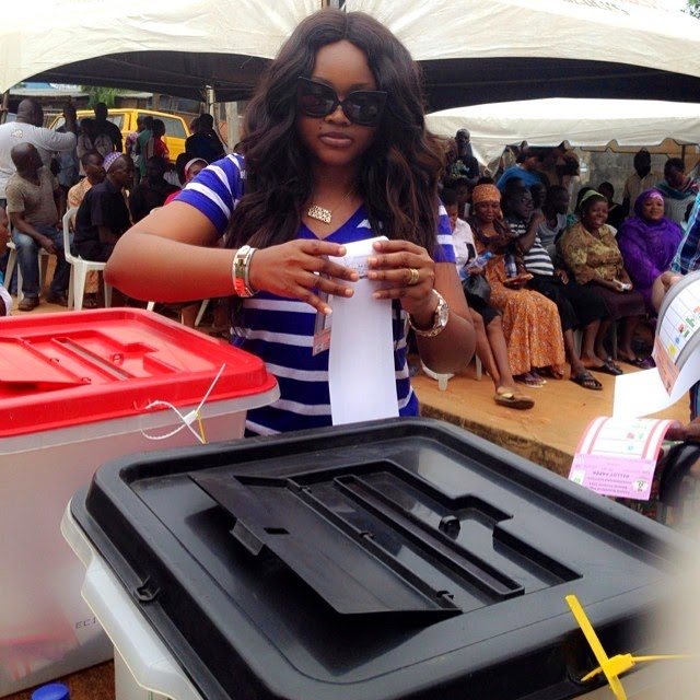 mercy aigbe voting
