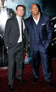 Channing Tatum and Dwayne Johnson attend the UK premiere of 'G.I. Joe: Retaliation' at The Empire Leicester Square on March 18, 2013 in London, England..  (Photo by Gareth Cattermole/Getty Images)