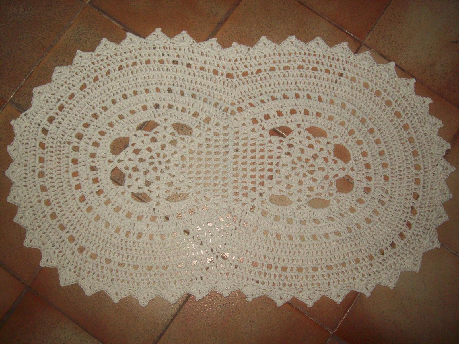 Set De Baño En Crochet Con Una Aguja: hilo grueso ( barbante ) y aguja 4,5mm , fue rápido y fácil de hacer