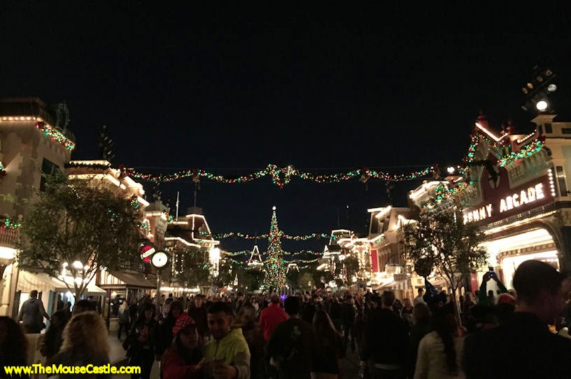 Main Street, USA at night