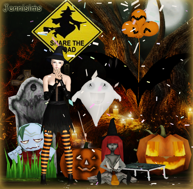 Christmas Decorations On Sims 3: My Sims 3 Blog: Halloween Decor By JenniSims