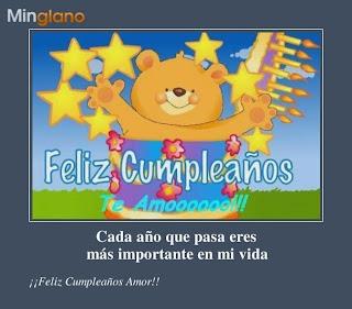 Frases Para Cumpleaños: Feliz Cumpleaños Te Amo