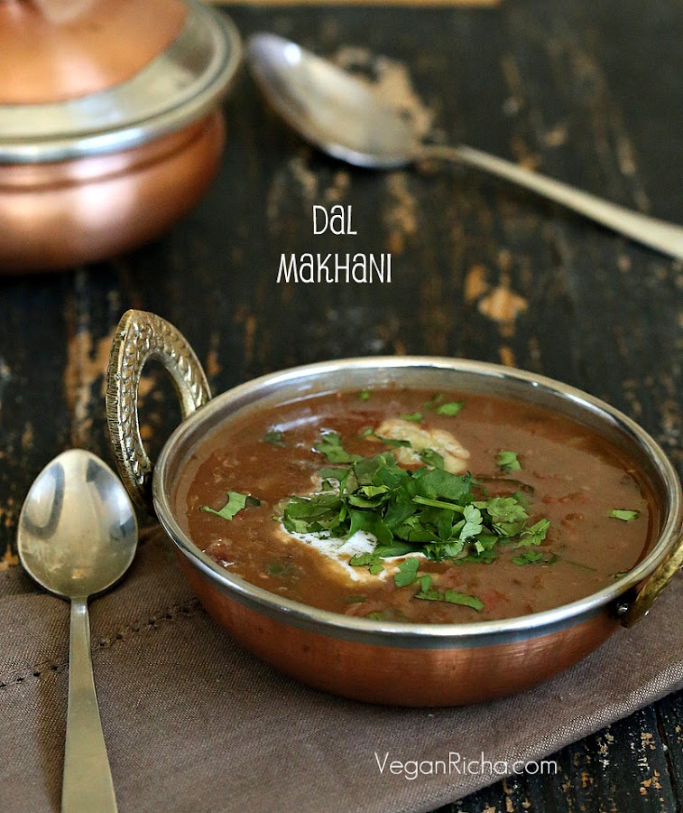 Vegan Dal Makhani - Black Gram and Kidney Beans in Creamy Buttery Gravy