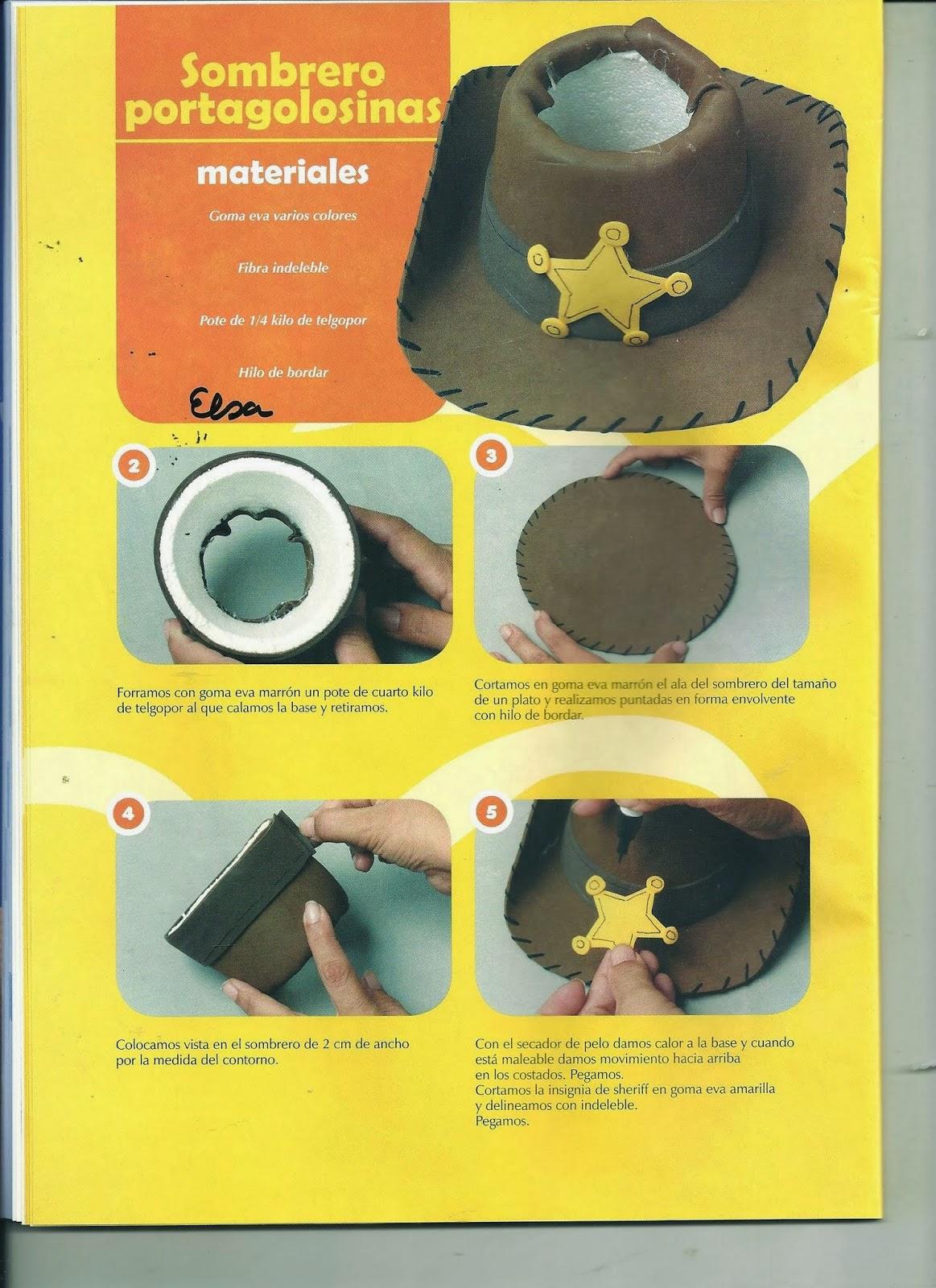 como hacer vaquera en foami - Revistas de manualidades gratis 0cbe9bb17d3