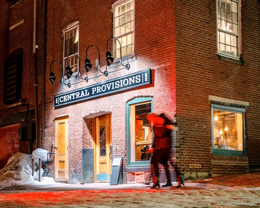 Central Provisions restaurant and bar in Portland, Maine Old Port Fore Street and Wharf Street March 2015 photo by Corey Templeton