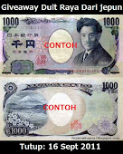GiveAway Duit Raya Dari Jepun