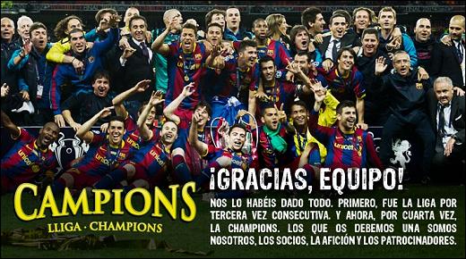 Campions! Lliga i Champions 10/11 =D