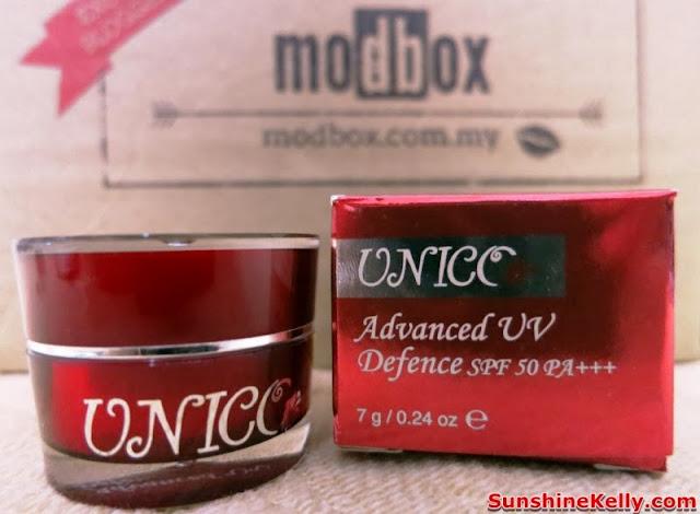 Modbox, Beauty box review, beauty box, modbox august, UNICO, Advance UV Defense SPF50 PA+++