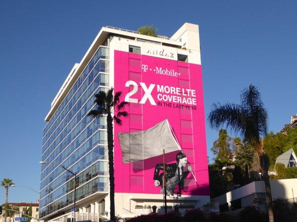 Giant TMobile 2X LTE coverage billboard