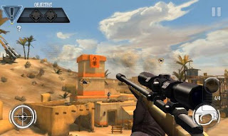 Screenshots of the Sniper X: Kill confirmed for Android tablet, phone.