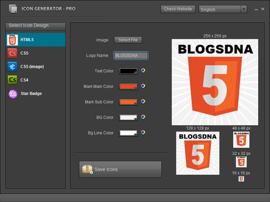 Generatore di icone gratuito online html 5 cs5 web 2 0 for Generatore di piano di pavimento online gratuito