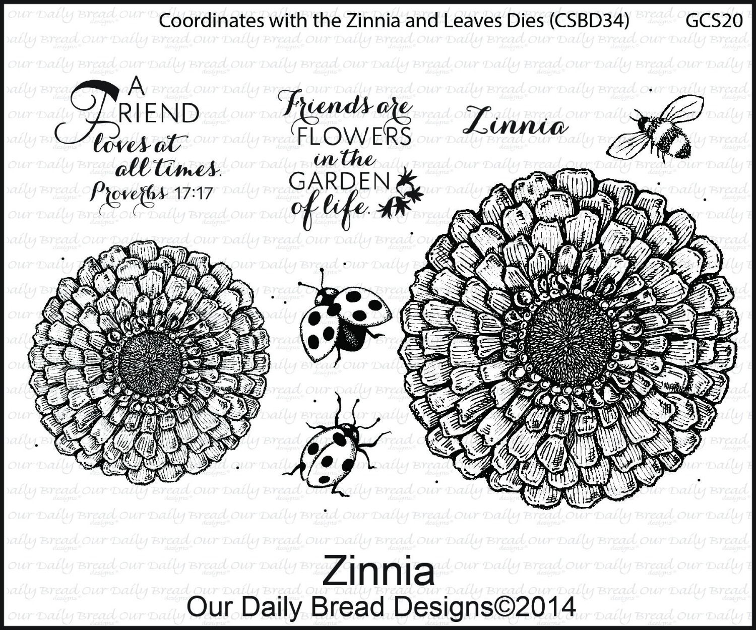 Stamps - Our Daily Bread Designs Zinnia