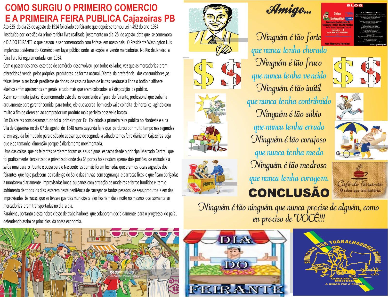 ATIVIDADES  DO SINDICATOS DOS FEIRANTES  DO ESTADO DA PARAIBA