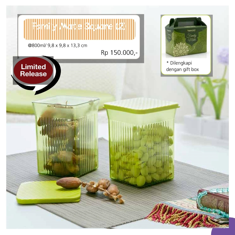 Family Mate Square Promo Tupperware Juli 2013