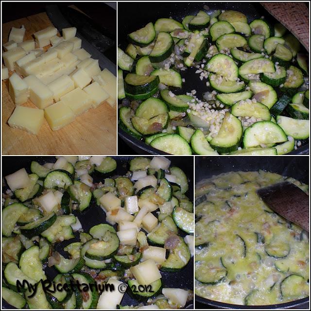 Pasta al cacao con zucchine e fontina