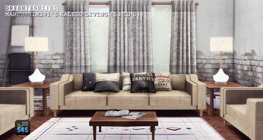 Dover Bedroom And Kaleco Living Room Set Conversions By DreamTeamSims