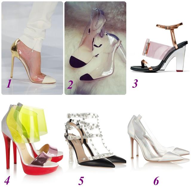 plexi topuklu ayakkabılar