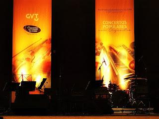O concerto Clássicos do Rock Nacional ocorreu no Auditório Araújo Vianna.