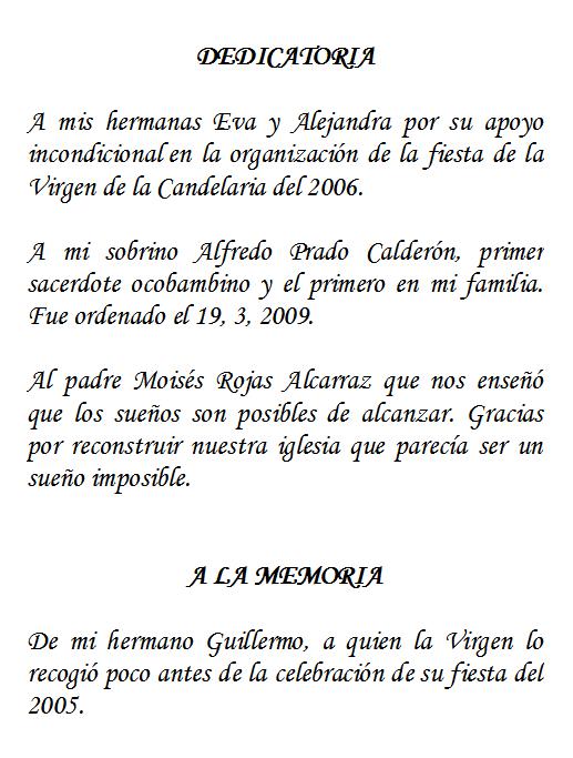 """DE OCOBAMBA"""", DE RICARDO CALDERÓN GUTIÉRREZ, PRESIDENTE DEL"""