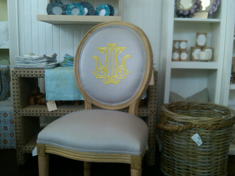 Bon Monogrammed Dining Room Chairs