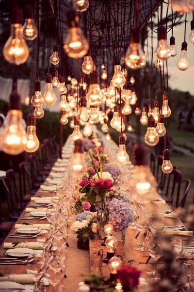 iluminación bombillas boda