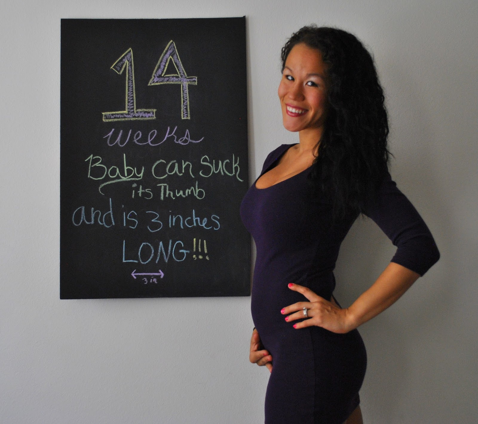 Diary of a Fit Mommy: 14 Weeks Pregnancy Chalkboard Update