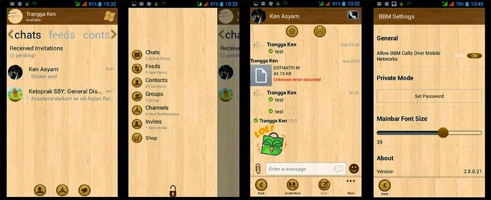 BBM MOD WINDOWS PHONE (WP) WOOD VERSI 2.8.0.21 APK -  tanggasurga.blogspot.com