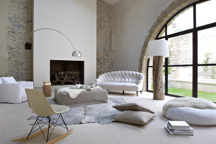 estilo rustico muros de piedra rusticos. Black Bedroom Furniture Sets. Home Design Ideas