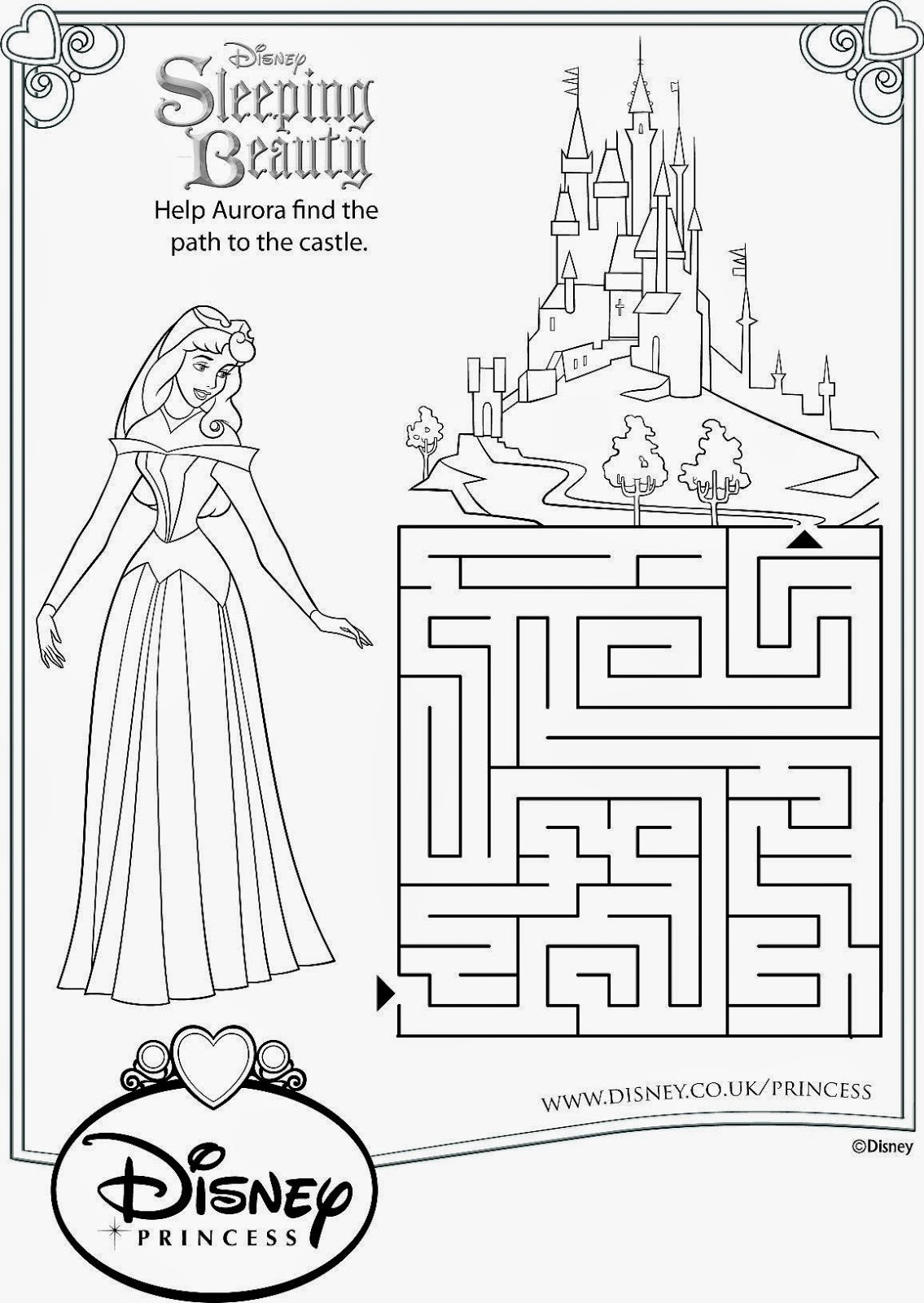 sleeping beauty maze activity