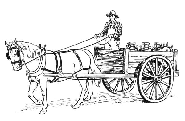 Horse Wagon Drawing Ho...