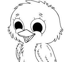 Cute Baby Duck Coloring Page
