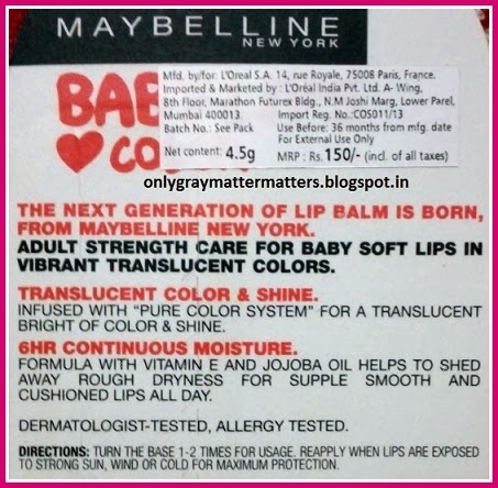 Maybelline Baby Lips New Colors India Tangerine Pop Review