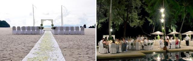 rhu deck amidst the pool wedding