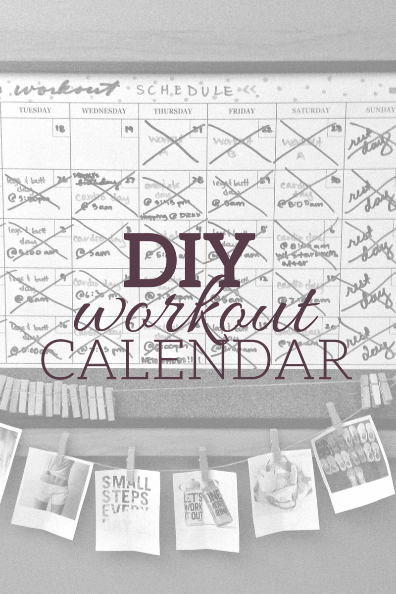 Diy Exercise Calendar : Whimsy and willpower diy workout calendar